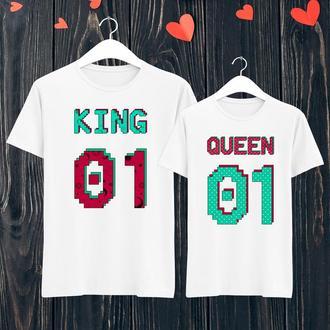 Парные футболки Push IT с принтом  King/Queen  ФП001143