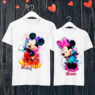 Парные футболки Push IT с принтом Mickey/Minni ФП001132