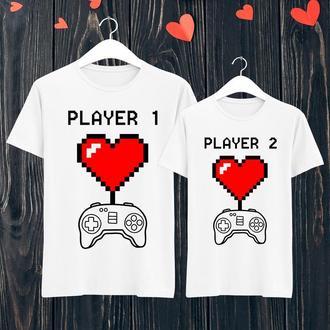 Парные футболки Push IT с принтом Player 1/Player 1  ФП001137