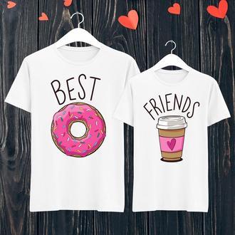 Парные футболки Push IT с принтом Best friends ФП001393