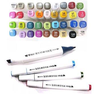 Скетч маркер SketchMarker двусторонний для бумаги 1 шт PM508**_серый теплый 0,5 (WG0,5)