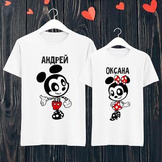 Парные футболки Push IT с принтом Андрей и Оксана ФП001398