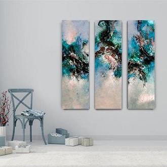 """Абстрактная картина на заказ """"Голубая лагуна"""""""