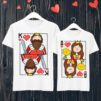 Парные футболки Push IT с принтом Король и Дама ФП001440