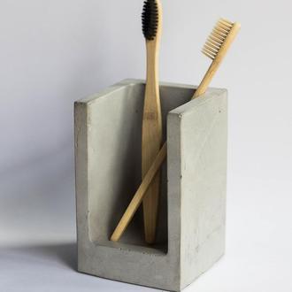 Холдер для зубных щеток из бетона