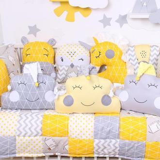 Комплект в кроватку в Желтых цветах