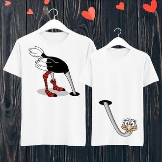 Парные футболки Push IT с принтом Страус ФП001403