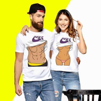 Парные футболки Push ITс принтом Оголенные торсы (3) Код ФП000572