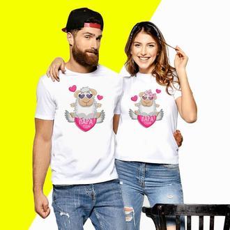 Парные футболки с принтом Овцы Пара года! (2) Код ФП000638