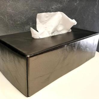 Оливковая Салфетница из Итальянской Кожи Чехол для Kleenex Tissue Box  ВИП Подарок в новый дом