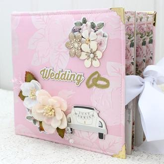 Свадебный альбом, свадебный скрапальбом , подарок на свадьбу, весільний альбом