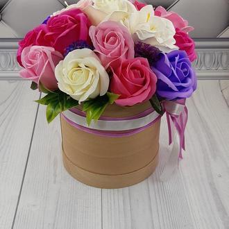 Букет роз из вспененного мыла