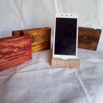 Деревянные подставки для смартфона
