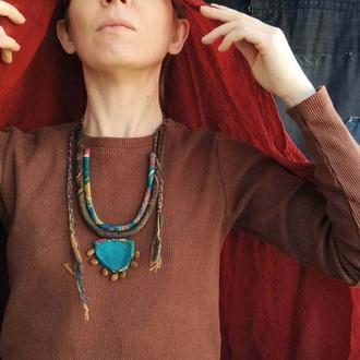 Шелковое ожерелье Оазис