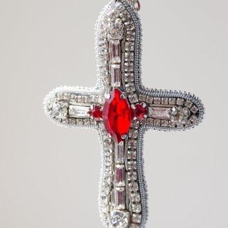 Кулон на довгому ланцюжку Кельтський хрест