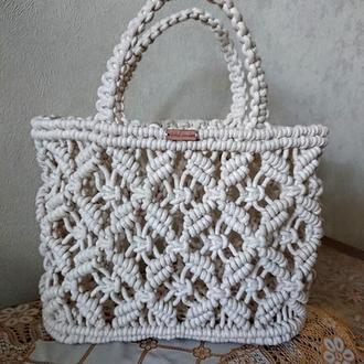 Плетеная макраме сумка