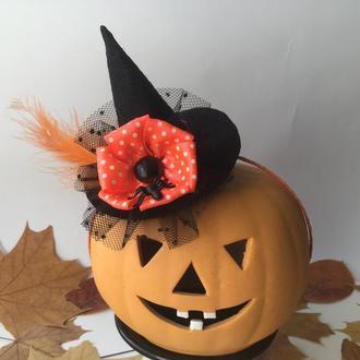 Оранжевый обруч «Шляпка ведьмочки 2»