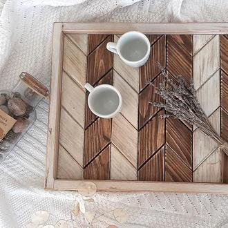 Піднос. Столик для сніданків. Дерев'яна таця.  Розмір M (45*35)