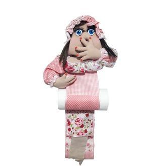 Кукла органайзер для туалетной бумаги и бумажных полотенец  Клава.