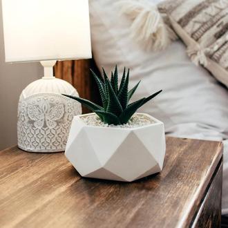 Геометрический бетонный горшок для суккулентов и кактусов ECO friendly