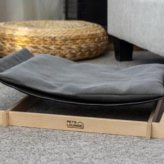 Гамак для котов и собак Pets Lounge Skiff Gray 60х40х15 см