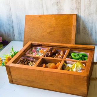 Подарочный бокс коробка с сухофруктами