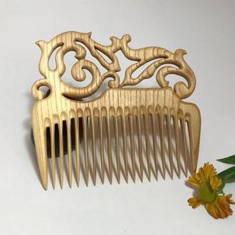 Гребень деревянный для волос Ясень ′Узор′