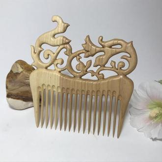 """Гребень деревянный для волос Ясень """"Узор"""""""