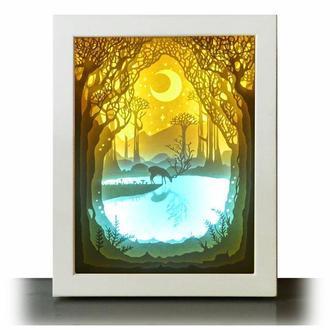 Волшебный пруд - Lightbox, ночник, лампа, светильник.