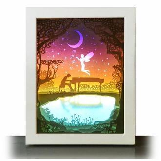 Лунная соната - Lightbox, ночник, лампа, светильник.