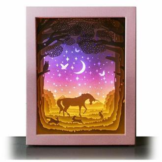 Волшебная поляна - Lightbox, ночник, лампа, светильник.