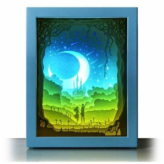 Персеиды августа - Lightbox, ночник, лампа, светильник.