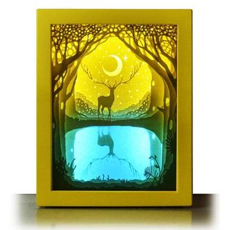 Легенда леса  - Lightbox, ночник, лампа, светильник.