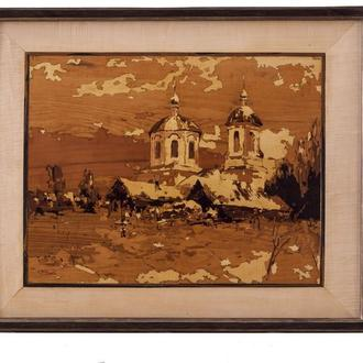 Мозаичное панно. Деревенская церковь