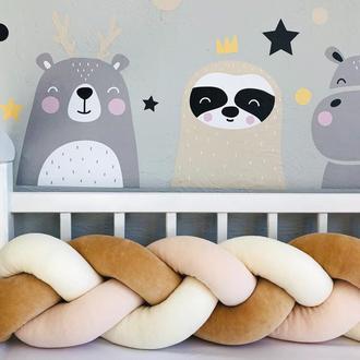 Бортик-коса в детскую кроватку 120х20