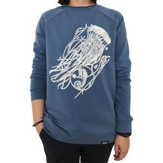 Женский синий свитшот с принтом медузы