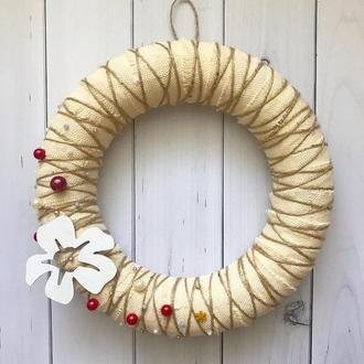 Свадебный декор, эко декор, деревенский стиль, рождественский декор, рождественский венок на двери