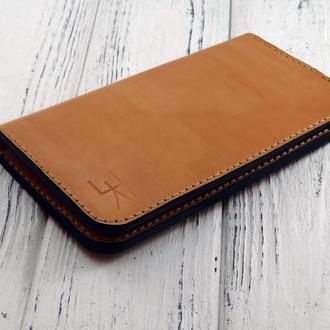 Кожаное портмоне ручной работы  М1