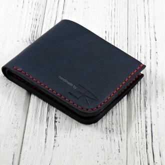 Кожаное портмоне ручной работы Blue KR