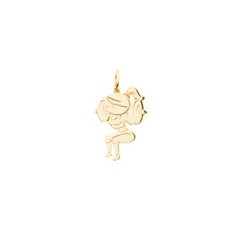 Кулон-подвеска Фитнес Девушка со штангой сидя BOSNEX Sport Necklace Pendant Золото (JGP-0115)
