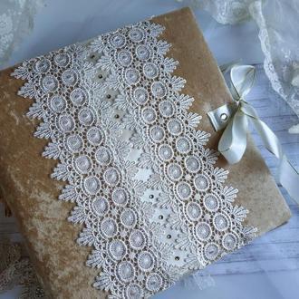 Свадебный фотоальбом в золотых оттенках