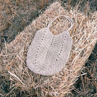 Вязаная сумка-шопер, пляжная сумка, женская сумочка, сумка авоська