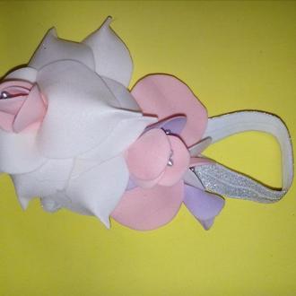 Повязка цветы для девочки