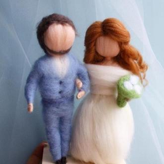 Игрушки куклы свадьбы Пара