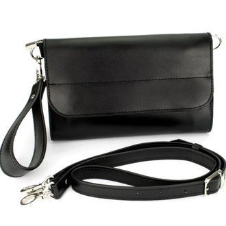 Клатч женский кожаный на магнитах Handycover HC0020 черный