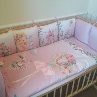 комплект в кроватку для девочки