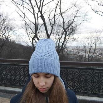 шапка с японским узором