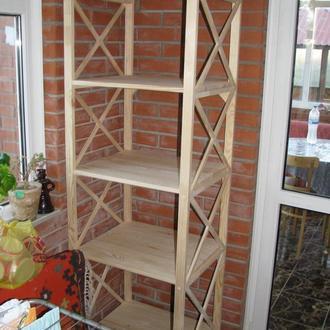 Стеллаж деревянный (сосна), без покрытия