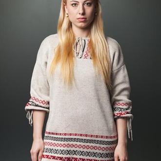 """вязаное платье  в этно - стиле """"Вышиванка"""""""