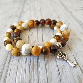 Набор женских браслетов из натурального камня Ж12-8